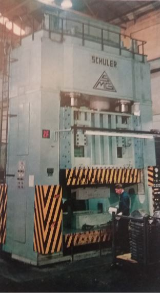 A 1,300-ton press at GMSA where body panels and other pressings are formed
