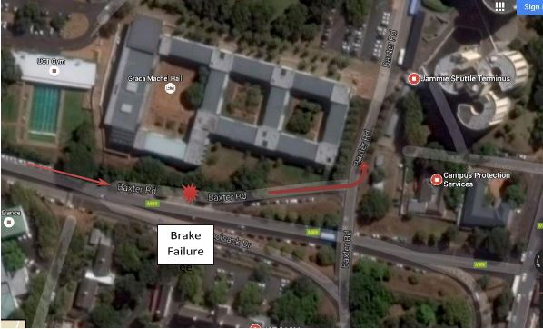 Brake failure in VW Beetle at UCT