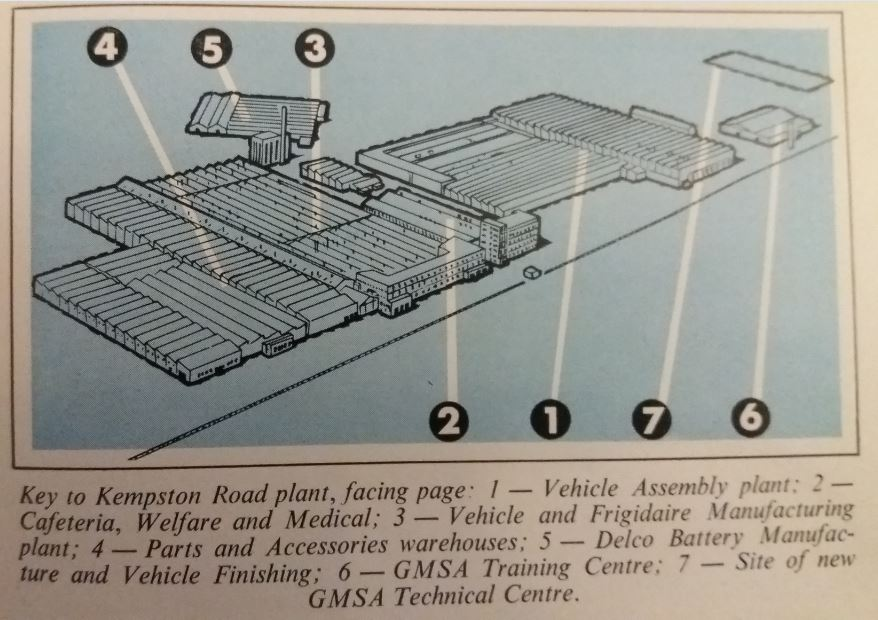 Layout of GM's Kempston Road plant