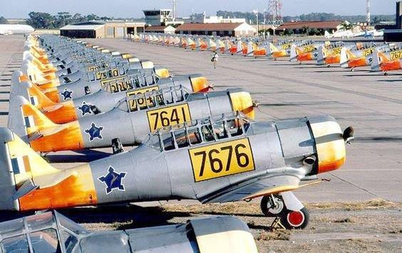 Massed Harvards on the ground