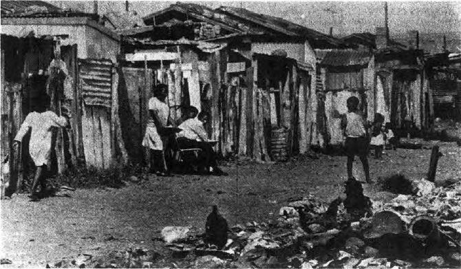 Original Huts in the Red Location circa 1990