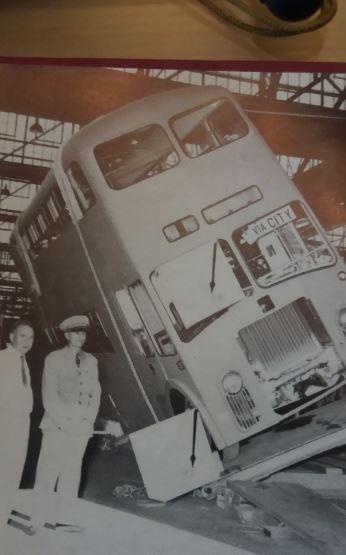 Tilt test on a bus at Bus Bodies