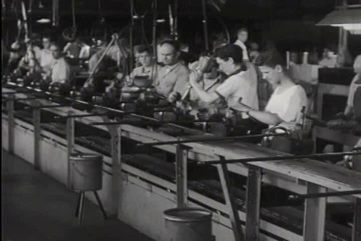 Workers in the Ford Plant during the 1940s