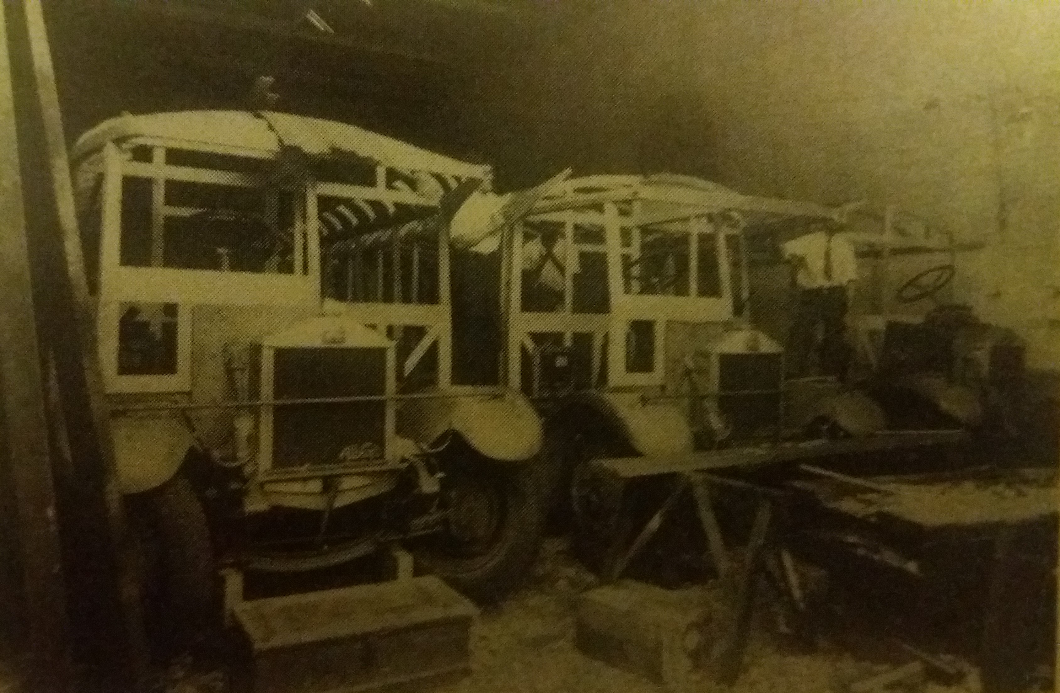 Albions being 'bodied' at the Tramsheds in 1930